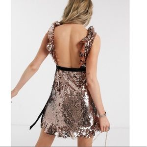 Sale🍒NWT Free People Tribeca Sequined Dress